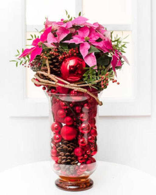 Рождество (в стеклянной вазе)