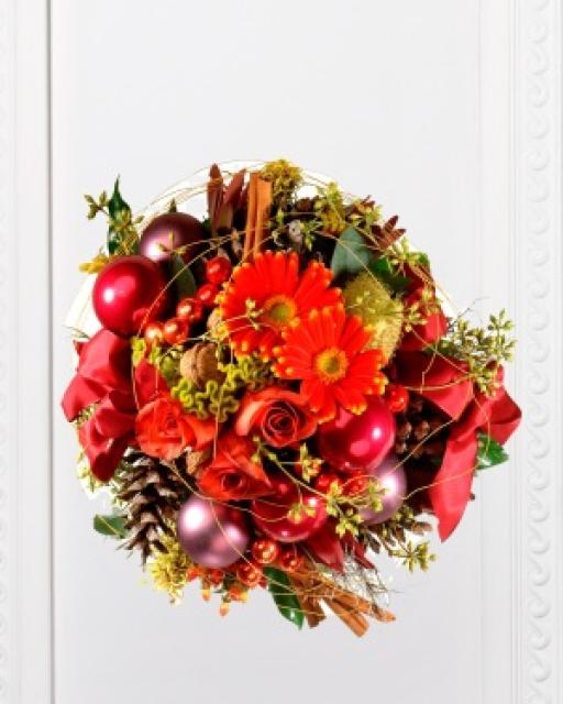 Традиционный рождественский букет