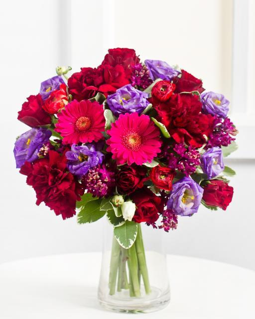 Романтический букет в лиловых тонах